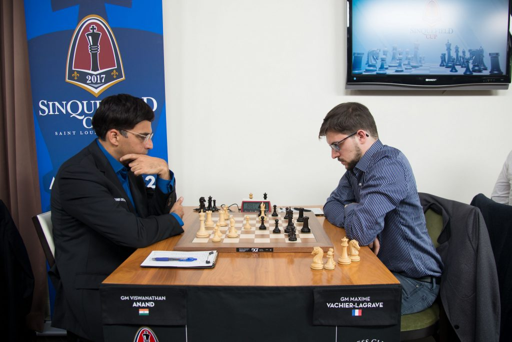 Sinquefield Cup 2017 ronde 8 Anand - Vachier-Lagrave