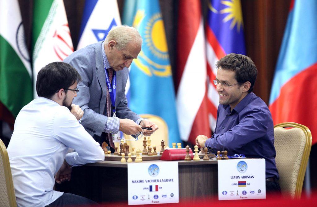 Coupe du Monde d'échecs FIDE 2017 Demi-finales départages Maxime Vachier-Lagrave et Levon Aronian