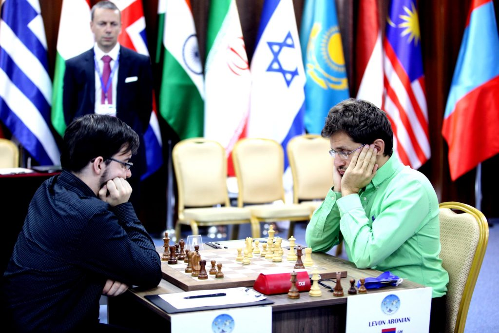 Coupe du Monde d'échecs FIDE 2017 Demi-finales Levon Aronian et Maxime Vachier-Lagrave