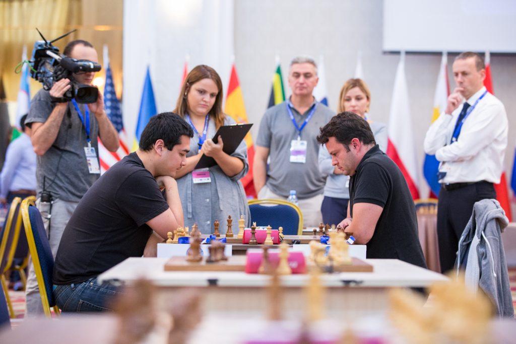 Coupe du Monde d'échecs FIDE 2017 ronde 1 départage Etienne Bacrot