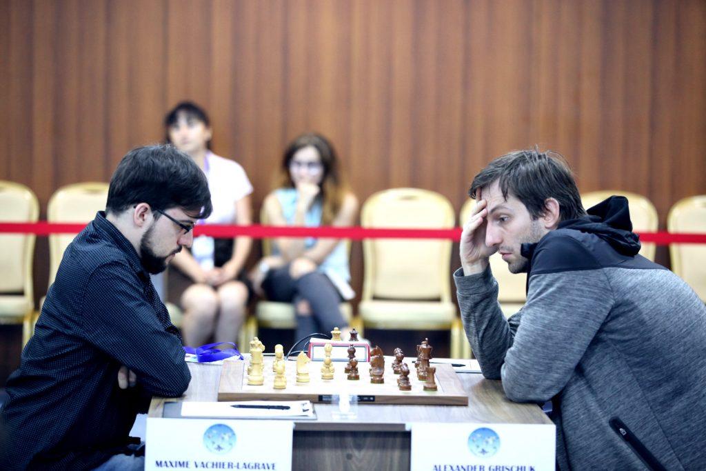 Coupe du Monde échecs FIDE 2017 ronde 4-1 Vachier-Lagrave Grischuk