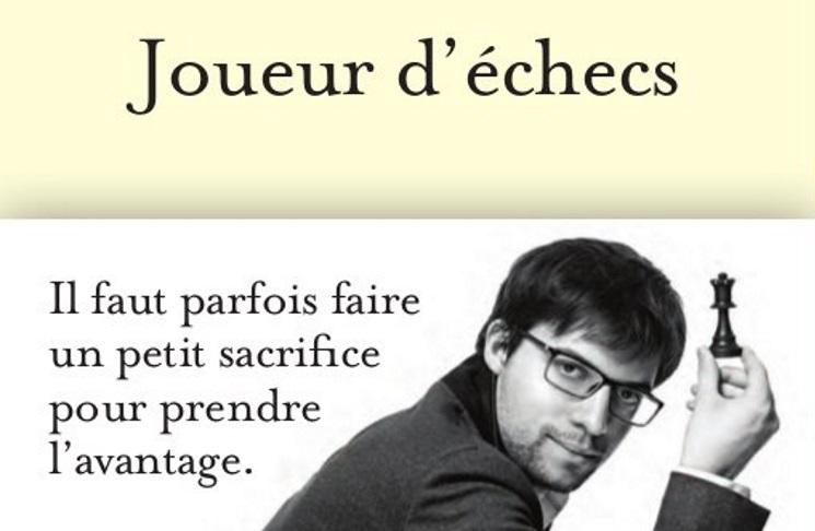 Joueur d'échecs le livre de Maxime Vachier-Lagrave