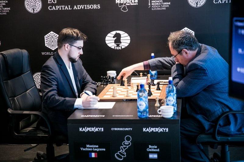 Grand Prix FIDE 2017 Palma de Majorque Ronde 1 Maxime Vachier-Lagrave Boris Gelfand