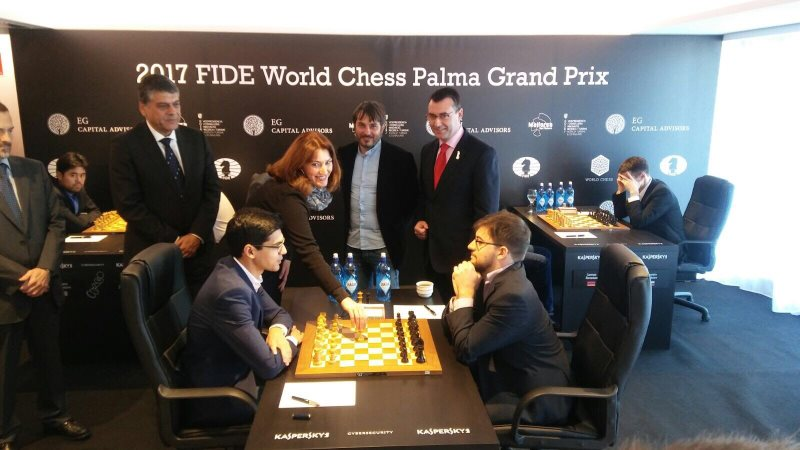 Grand Prix FIDE 2017 Palma de Majorque Ronde 2