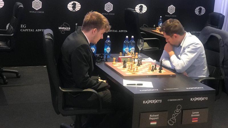 Grand Prix FIDE 2017 Palma de Majorque ronde 7 Richard Rapport Levon Aronian
