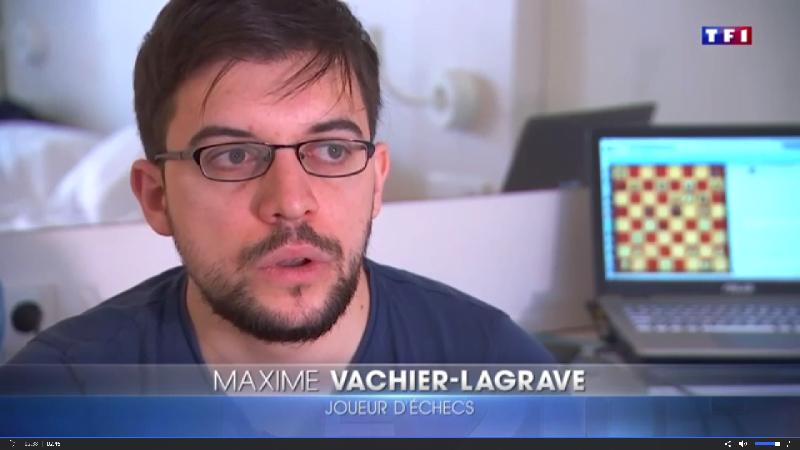 Maxime Vachier-Lagrave dans le journal de tf1 le 20-11-2017