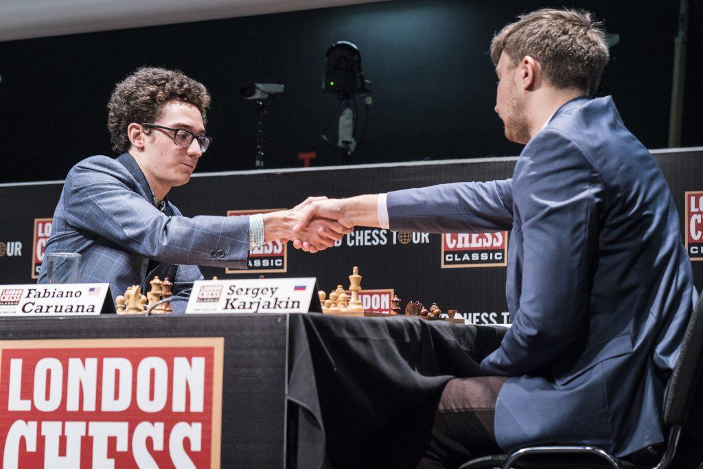 London Chess Classic 2017 ronde 4 Karjakin Caruana