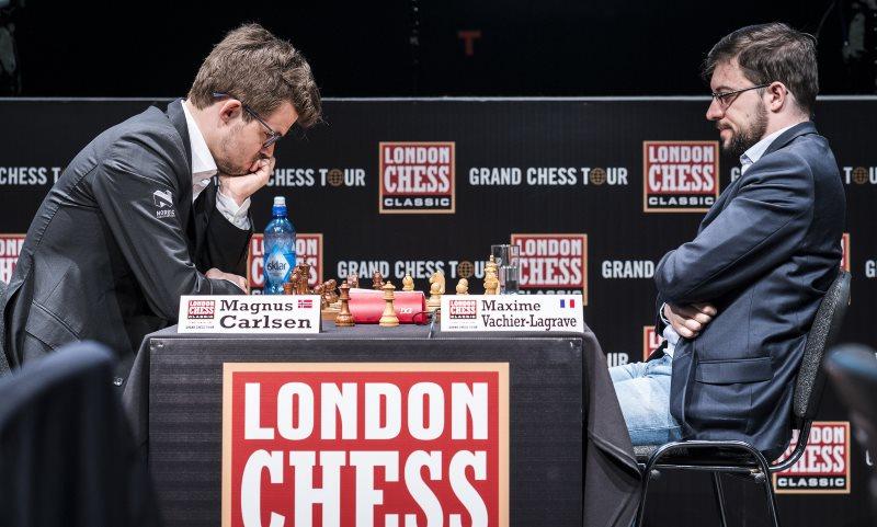 London Chess Classic 2017 Ronde 4 Vachier-Lagrave Carlsen