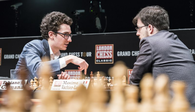 London Chess Classic 2017 ronde 6 Caruana et Vachier-Lagrave