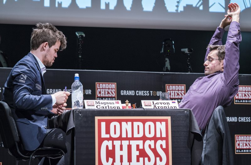 London Chess Classic 2017 ronde 9 Aronian-Carlsen