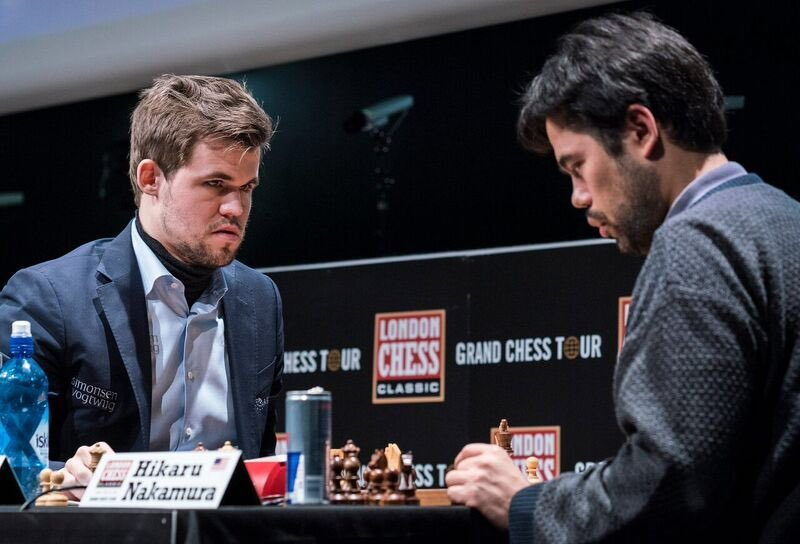 London Chess Classic 2017 ronse 6 Magnus Carlsen et Hikaru Nakamura