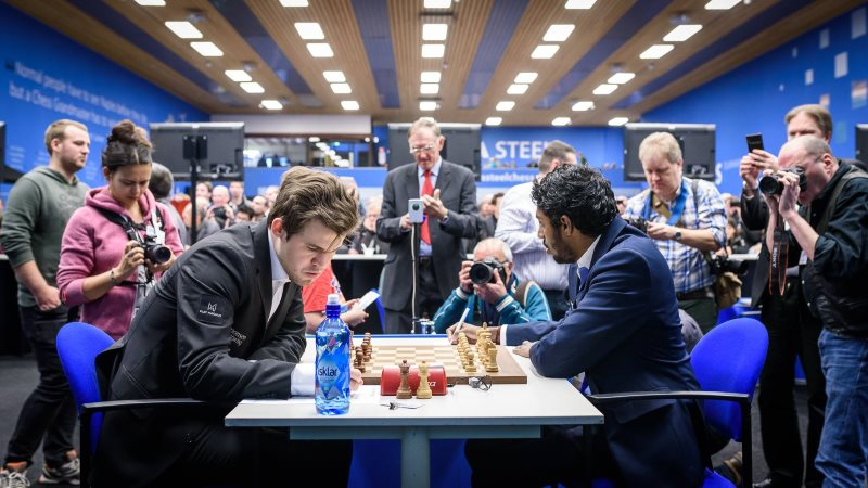 Tata Steel Chess Masters 2018 ronde 2 Adhiban-Carlsen