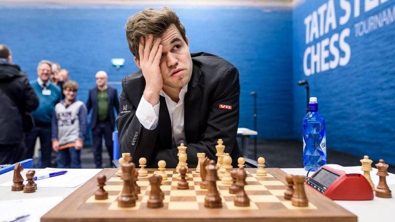 Tata Steel Chess Masters 2018 ronde 8 Magnus Carlsen