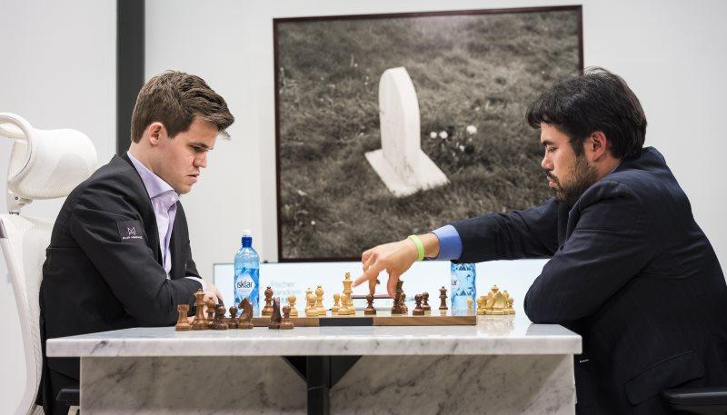 Match Fischer Random Chess960 Carlsen-Nakamura partie 1