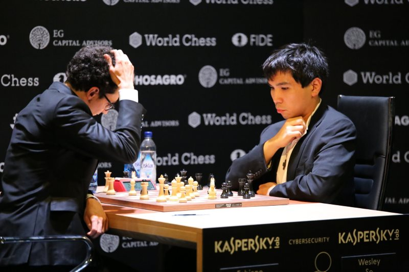 Tournoi Candidats 2018 ronde 1 Fabiano Caruana-Wesley So