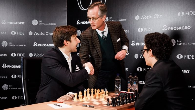 Tournoi Candidats 2018 ronde 12 Karjakin-Caruana premier coup