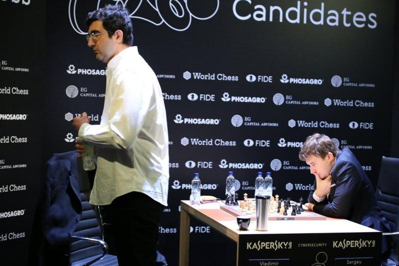 Tournoi Candidats 2018 ronde 2 Kramnik-Karjakin
