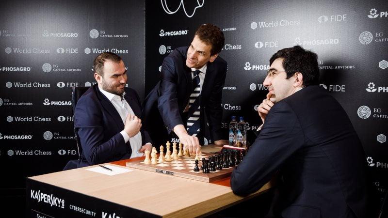 Tournoi Candidats 2018 ronde 6 Mamedyarov-Kramnik