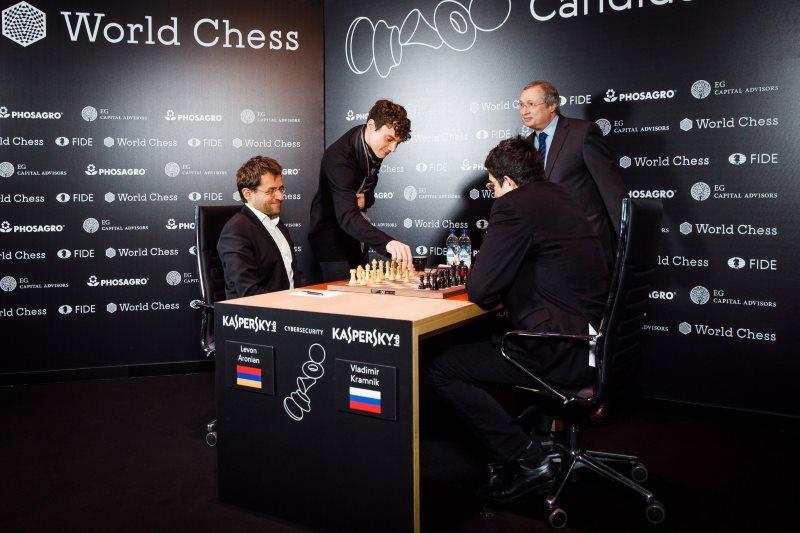 Tournoi candidats 2018 ronde 3 Aronian-Kramnik