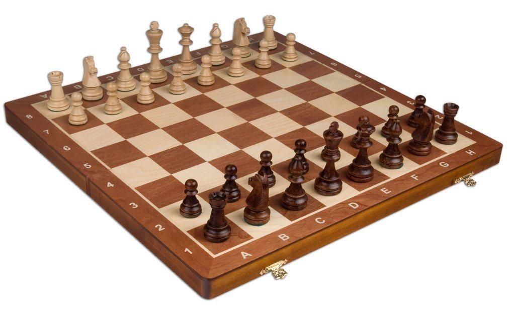 Echiquier en bois de compétition staunton tournoi 6