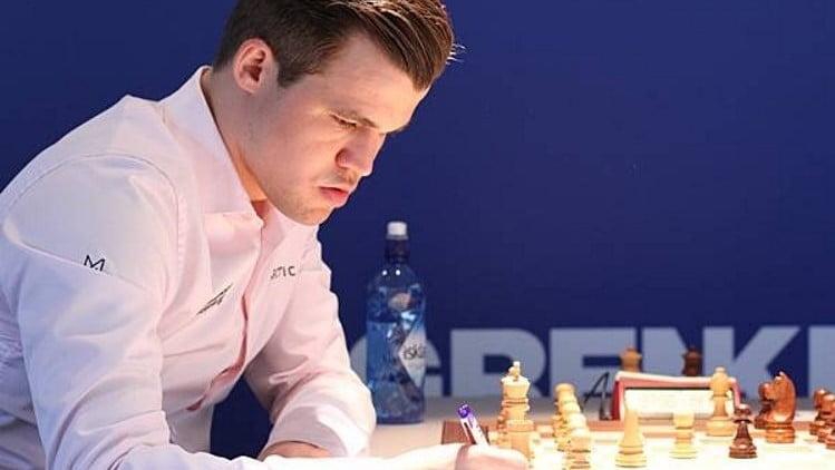 Grenke Chess Classic 2018 ronde 8 Magnus Carlsen