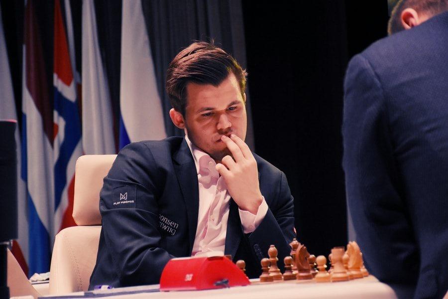 Shamkir Chess 2018 ronde 1 Magnus Carlsen