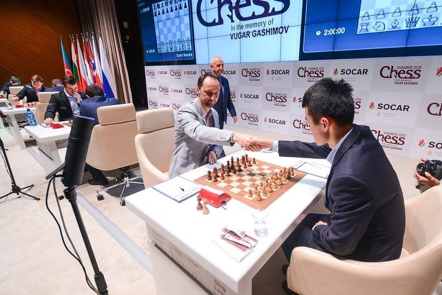 Shamkir Chess 2018 ronde 3 Ding-Topalov