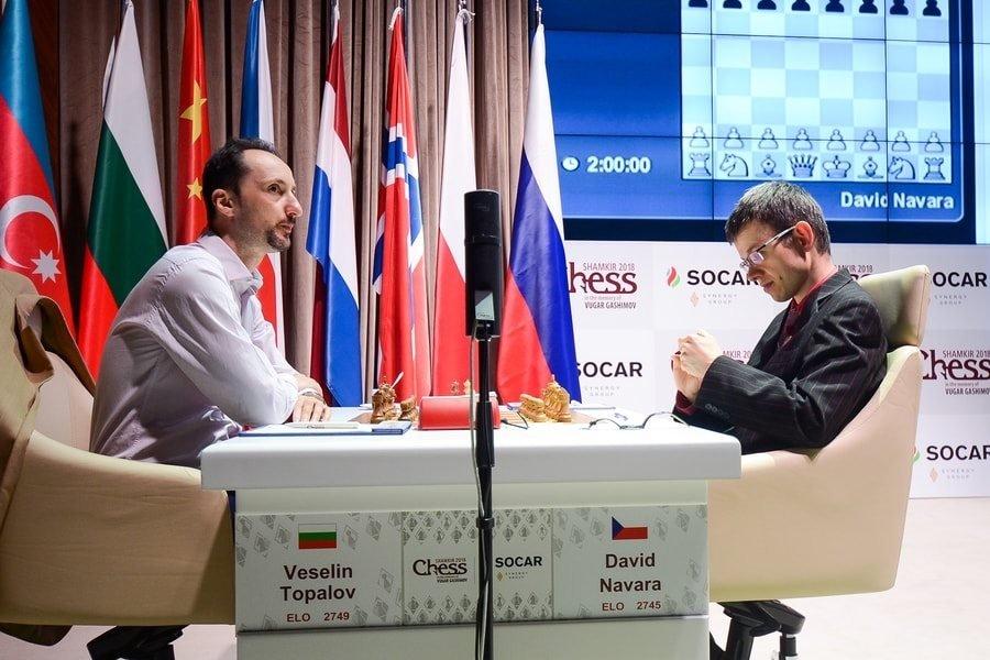Shamkir Chess 2018 ronde 5 Navara-Topalov
