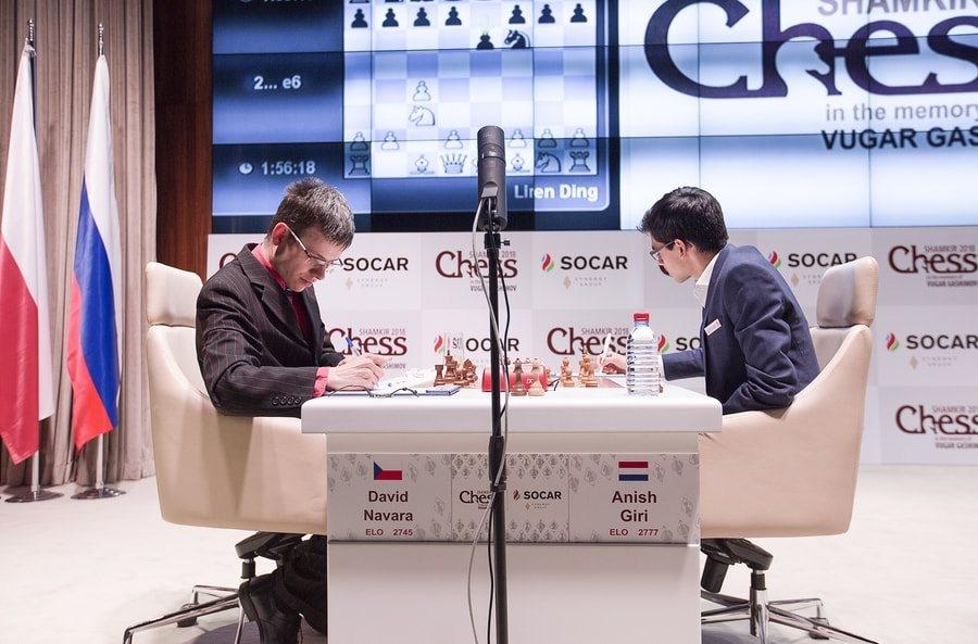 Shamkir Chess 2018 ronde 6 Giri-Navara