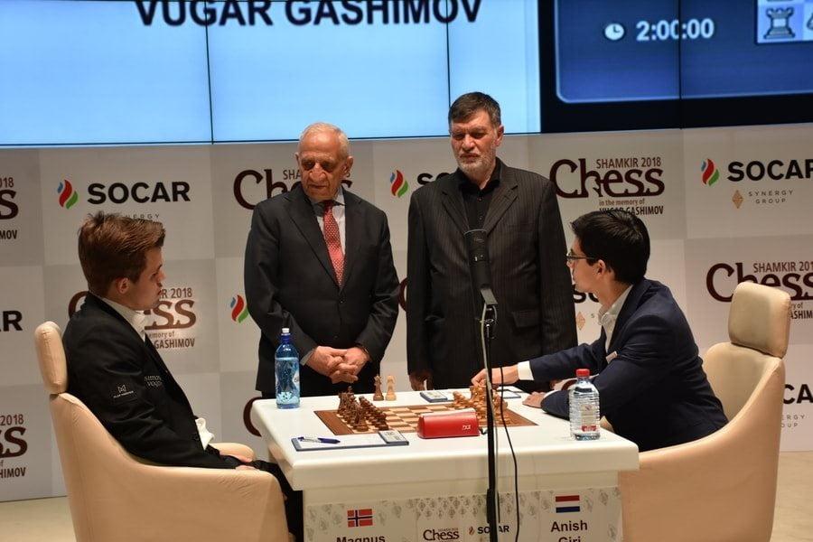 Shamkir Chess 2018 ronde 8 Giri-Carlsen
