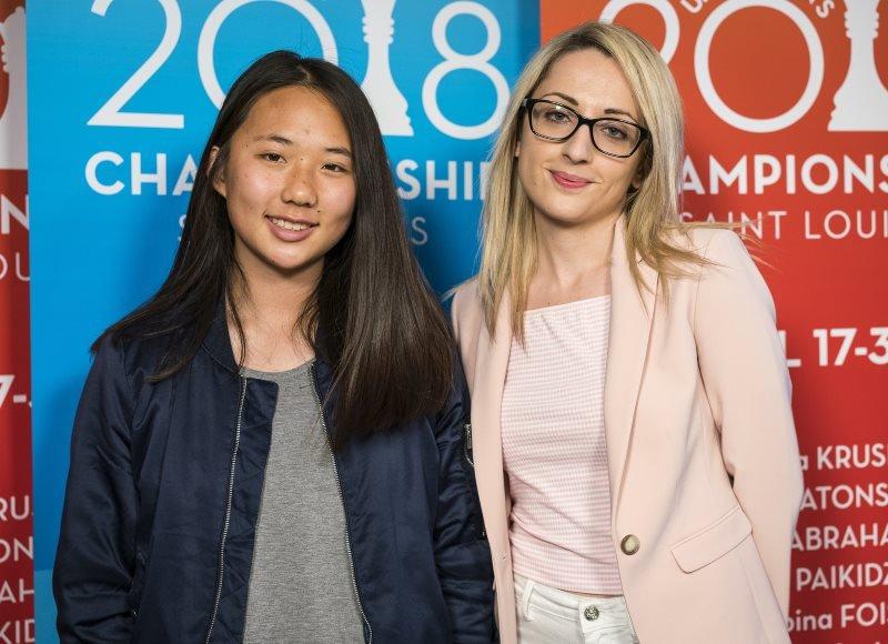 Annie Wang et Nazi Paikidze Championnat Etats-Unis 2018