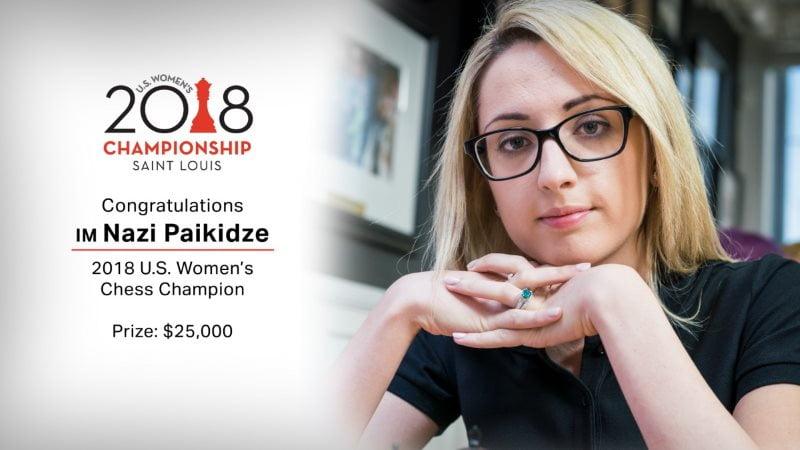 Nazi Paikidze Championne Etats-Unis 2018 échecs