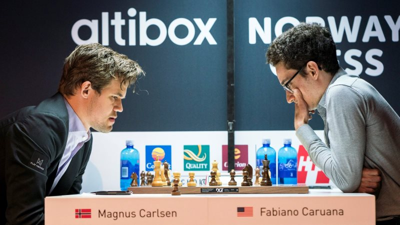 Norway Chess 2018 ronde 1 Carlsen-Caruana