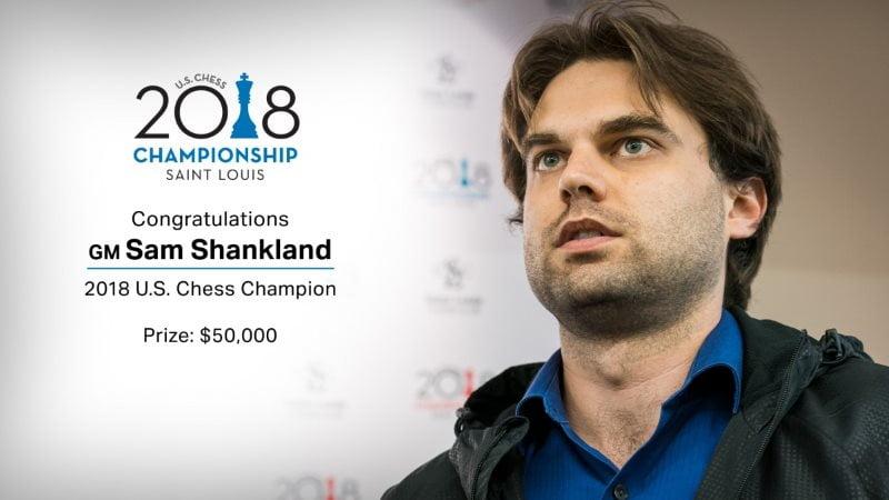 Sam Shankland Champion Etats-Unis 2018 échecs