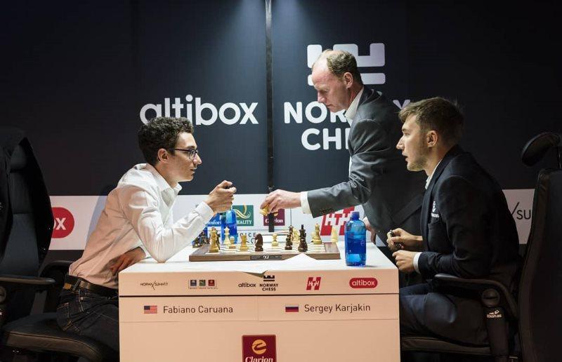 Norway Chess 2018 ronde 5 Caruana-Karjakin