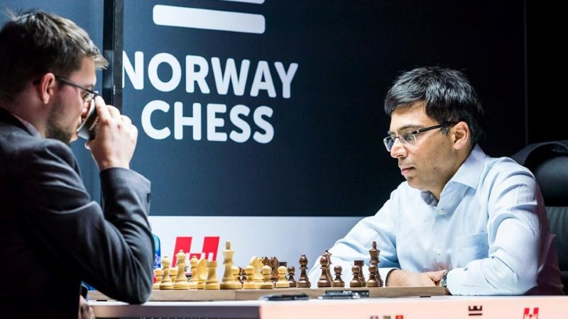 Norway Chess 2018 ronde 7 Vachier-Lagrave Anand