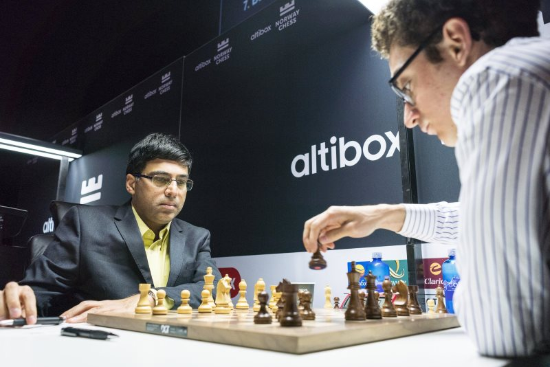 Norway Chess 2018 ronde 8 Anand-Caruana