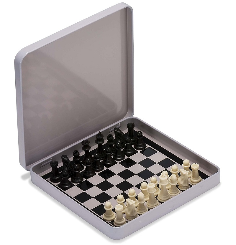 Jeu d'échecs échiquier de voyage miniature magnétique