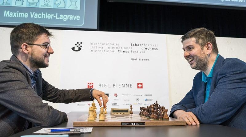 Tournoi des Grands-Maîtres au festival de Bienne 2018 ronde 1 Vachier-Lagrave Svidler