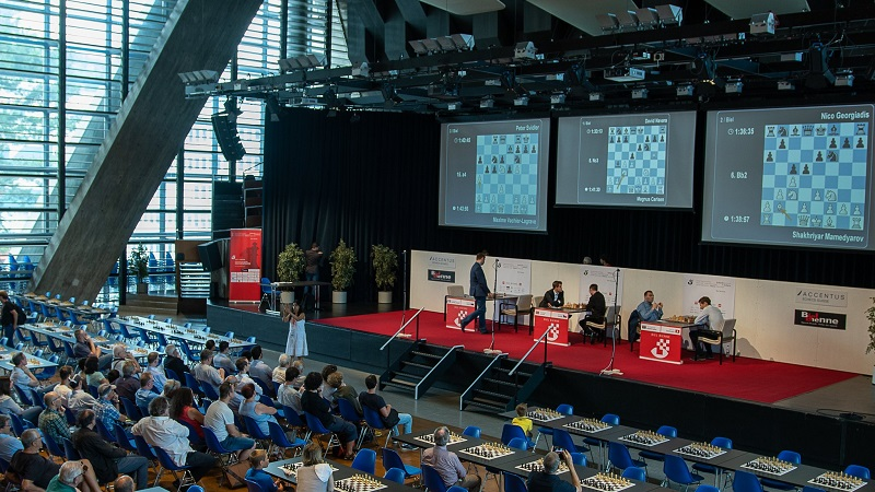 Tournoi des Grands-Maîtres au Festival de Bienne 2018 ronde 1