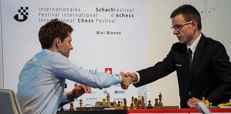 Tournoi des Grands-Maîtres au Festival des échecs à Bienne 2018 ronde 3 Georgiadis-Navara