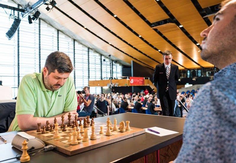 Tournoi des Grands-Maîtres au Festival des échecs à Bienne 2018 ronde 4 Mamedyarov-Svidler