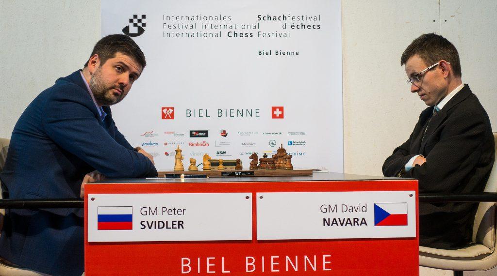Tournoi des Grands-Maîtres au Festival des échecs à Bienne 2018 ronde 5 Svidler-Navara