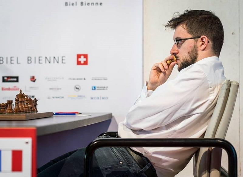 Tournoi Grands-Maîtres au Festival des échecs à Bienne 2018 ronde 6 Maxime Vachier-Lagrave