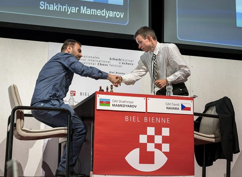 Tournoi Grands-Maîtres au Festival des échecs à Bienne 2018 ronde 7 Mamedyarov-Navara