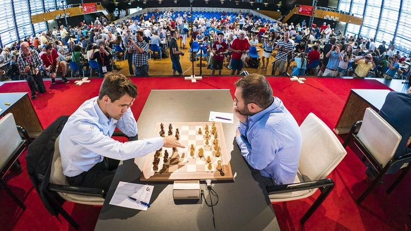 Tournoi Grands-Maîtres au Festival des échecs de Bienne 2018 ronde 9