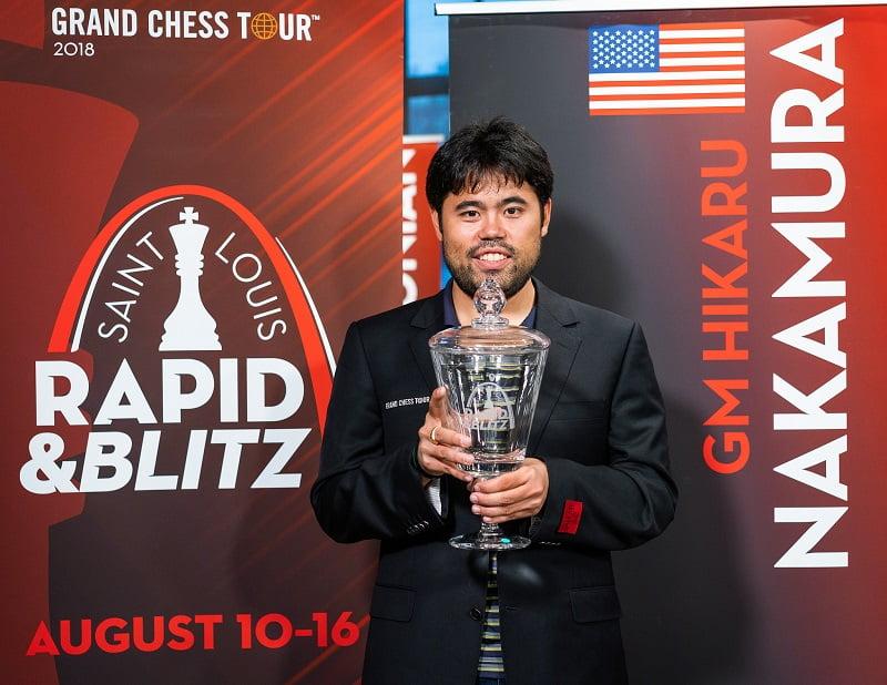 Hikaru Nakamura remporte le Saint-Louis Rapide et Blitz 2018