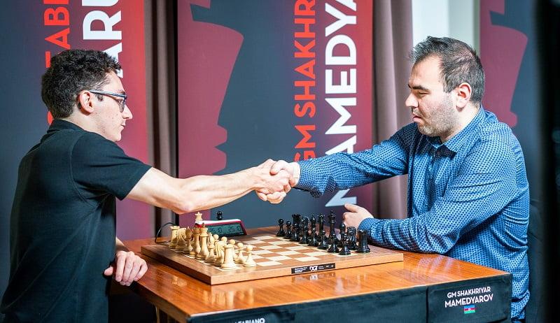 Saint-Louis Rapide et Blitz 2018 jour 1 Caruana-Mamedyarov