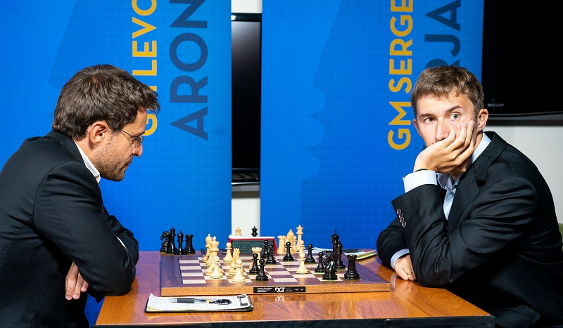 Sinquefield Cup 2018 ronde 1 Aronian-Karjakin