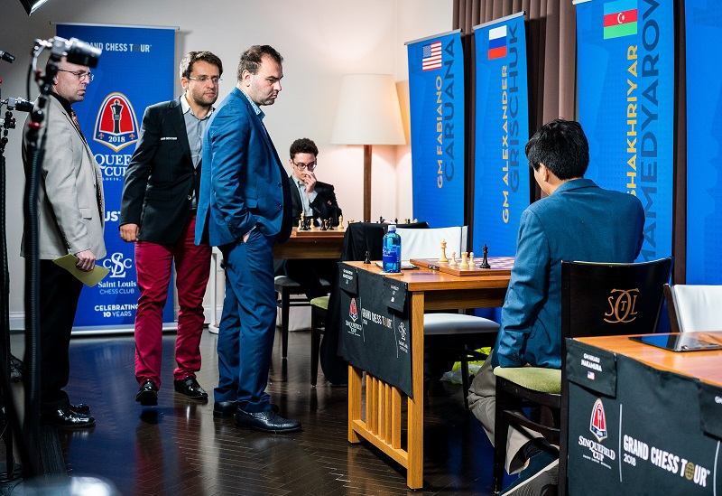 Sinquefield Cup 2018 ronde 1 Mamedyarov-So